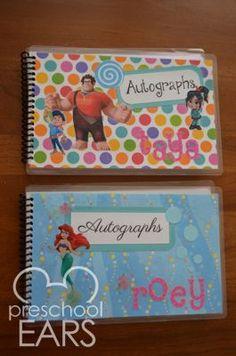 DIY Disney autograph books - Several cute ideas