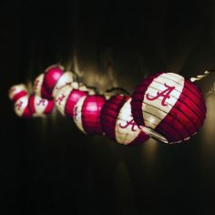Alabama Crimson Tide Paper Lanterns