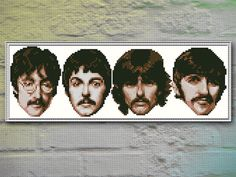 The Beatles Cross Stitch Pattern INSTANT DOWNLOAD