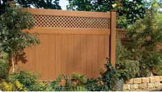 add lattice to extend height of privacy fence.