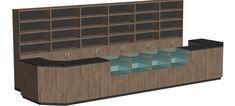 "Aufbaubare Systemtheke ""MODUL"" Handy Shop, Home, Large Desk, Store Counter, Pedestal Desk, Retail Counter, Ad Home, Homes, Houses"
