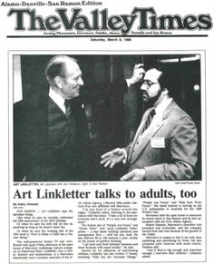 Jon and Art Linkletter worked together for over a decade on many projects.