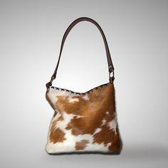 7ff8b9b22b Cowhide Hobo Bag by cowhidemirrors on Etsy
