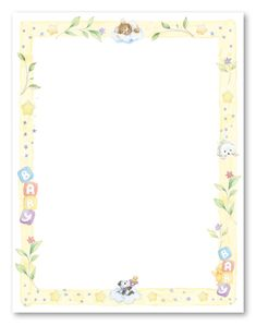 printable paper with baby borders | Sweet Dreams Baby Shower Stationery, 6377