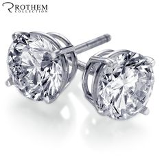 WOW! 26 Sold, Just 2 More Left! Best Christmas Gift for Her - Real 2 Carat Diamond Stud Earrings in White Gold With Screw Back for Pierced Ears. http://www.ebay.com/itm/121882098454
