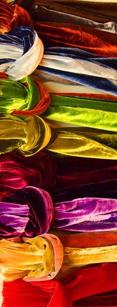 Velvet scarves