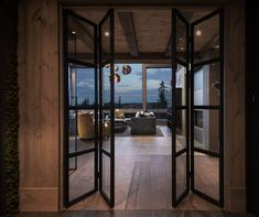 Kvitfjell - Spectacular log cabin with a very high standard, fantastic . Modern Lodge, Building A Cabin, Lodge Style, Timber House, Cabin Interiors, Cabins And Cottages, Cabin Homes, Interior Design Living Room, Future House