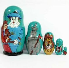 Wizard of Oz nesting doll from Russian Crafts