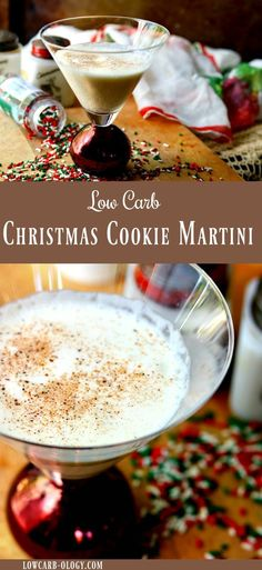 Welcome the holidays with this creamy, low carb, Christmas Cookie Martini recipe. It's just one carb and so easy to make! You'll have a gorgeous, signature holiday cocktail without going over your carb allotment. #lowcarb #cocktail #holidays via @Marye at Restless Chipotle