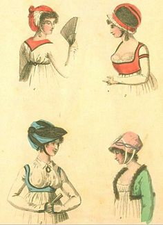 sleeveless spencers.    London and Paris Fashions, May 1799
