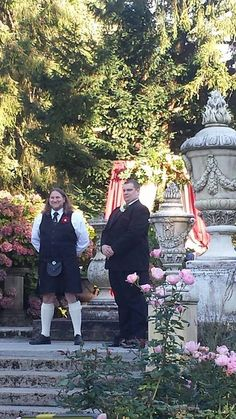Our officiant Jim and my groom Nate My wedding at Thornewood Castle 10-3-14