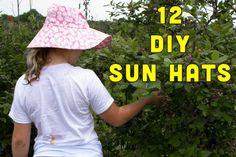 One Dozen Sun Hats to Sew this Summer