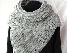 CROCHET PATTERN Huntress Cowl Shawl Asymmetrical Crossbody Vest Sweater Wrap PDF Womens, Teens Accessories