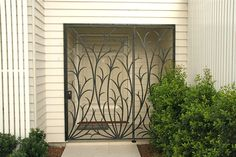 Wrought Iron Grass Design Door Versatility Of Sliding