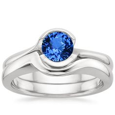 18K White Gold Sapphire Cascade Matched Set from Brilliant Earth
