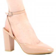 Lana ankle tie block heels in Mocha patent
