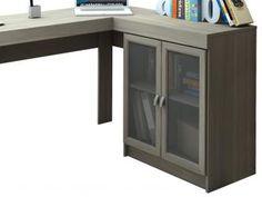 Mesa para Computador/Escrivaninha Espanha 2 Portas - 3 Gavetas com Vidro…