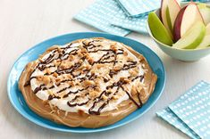 Kraft Food & Family (Summer 2013): Layered Peanut Butter Dessert Dip - Peanut butter topped with marshmallow creme, whipped topping, toasted coconut and chocolate makes a scrumptious dessert dip for apples, cookies and more.