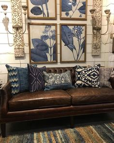 Love this look and color scheme. Rental Decorating, Interior Decorating, Interior Design, Leather Couch Decorating, Bedroom Colors, Home Decor Inspiration, Boho Decor, Home And Living, Home Furniture