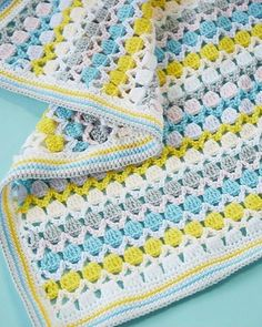 Ravelry: Bonbon Baby Blanket pattern by Veronika Cromwell Source by barbiyogi Crotchet Blanket Patterns, Crochet Shrug Pattern, Baby Afghan Crochet, Granny Square Crochet Pattern, Crochet Bear, Baby Knitting Patterns, Baby Patterns, Crochet Patterns, Crochet Birds