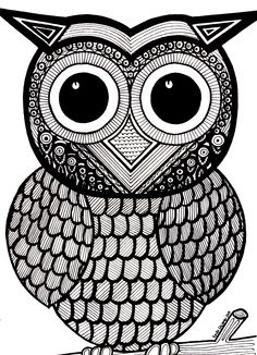 Owl Coloring Pages Full Page - Coloring Pages                                                                                                                                                                                 More
