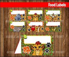 Lion Guard Food Labels Printable Lion Guard food por GiseleMPrint