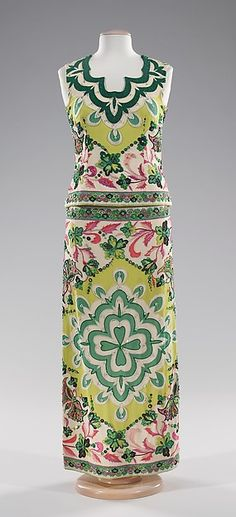 Evening Dress, Emilio Pucci, Italian, silk and rhinestones, ca.1966 / Met Museum of Art