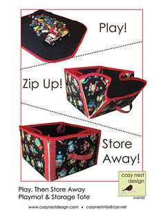 Convertible Play Mat & Storage Tote Sewing Pattern