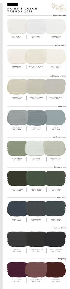 Predicted Paint Colors for 2018 Willow green house exterior - paletten - Dream houses Exterior Paint Colors For House, Interior Paint Colors, Paint Colors For Home, Paint Colours, Exterior Colors, Interior Design, Gray Exterior, Luxury Interior, Decoration Inspiration