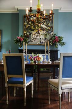 Dining Room Design, Dining Room Table, Dining Chairs, Dining Rooms, House Color Schemes, House Colors, Southern Living, Southern Style, Garden And Gun Magazine