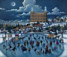 """Ice Skating in the Park"" by Eric Dowdle"