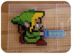 Link - Zelda  Remember these melty bead things? Good times.
