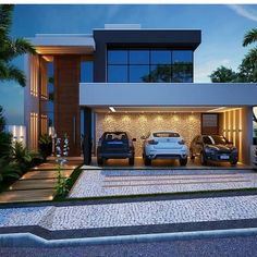Pin on Casas modernas - Vidro Pin on Casas modernas - Vidro House Front Design, Modern House Design, Dream House Exterior, House Elevation, Villa Design, Modern House Plans, Facade House, House Goals, Home Fashion