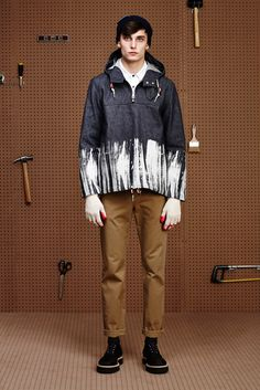 Band of Outsiders Fall 2015 Menswear - Collection - Gallery - Style.com DENIEM HOODIE