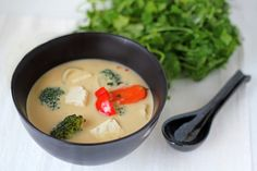 Tom Kha Soup: spicy thai soup with coconut milk