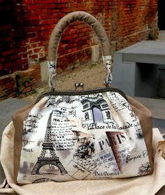 """Bolsa baú """"Paris Clássico"""" handmade by Costura Xtrodnária"""