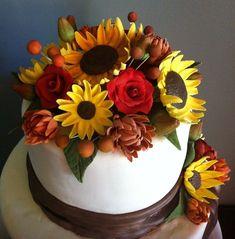 All handmade gumpaste flowers.