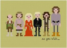 Princess Bride cross stitch. I need to learn how to do this.