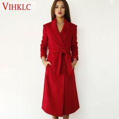 Double Breasted Flare destacável vestido casaco capa casaco feminino de lã para o inverno