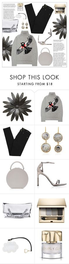 """A Little Birdie"" by cherieaustin ❤ liked on Polyvore featuring Markus Lupfer, Yves Saint Laurent, Renee Lewis, M2Malletier, Stuart Weitzman, Kendall + Kylie, Clarins, Betsey Johnson and Smith & Cult"
