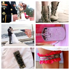 Military wedding! OMG I LOVE THE BOOT PICTURE IDEA!!!