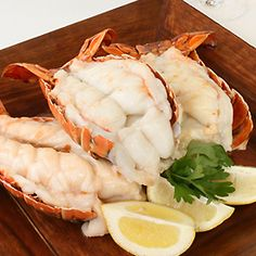 Sweet Cream Butter Broiled Florida Spiny Lobster Tails / Lobster / Seafood / Recipes / Home - Florida Department of Agriculture & Consumer Services Crawfish Recipes, Lobster Recipes, Seafood Recipes, Lobster Dishes, Seafood Dishes, Fish And Seafood, Florida Spiny Lobster Recipe, Florida Food, Lobster Tails