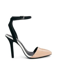 Miss KG Alba Black/Nude Ankle Strap Heeled Shoes