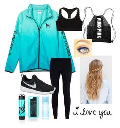 """Untitled #91"" by morgan-lagerstom ❤ liked on Polyvore featuring moda, NIKE y Victoria's Secret"
