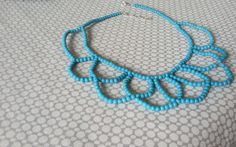 statement necklace DIY   crazy about coral