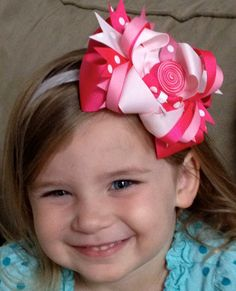 SALE Boutique Baby Girls Layered Lollipop by CamdynReeseHeadbands, $9.50