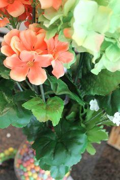 Spring floral arrangement (using sweet tarts candy)!