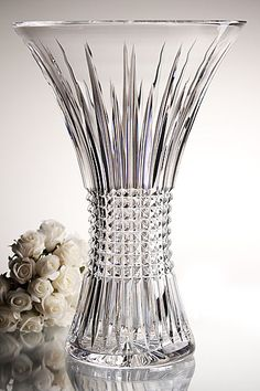 Crystal, Lismore Diamond Crystal Vase Waterford Lismore Diamond Vase 14 in. Another one I wouldn't mind owning.Waterford Lismore Diamond Vase 14 in. Another one I wouldn't mind owning. Waterford Lismore, Waterford Crystal, Crystal Glassware, Crystal Vase, Vase Centerpieces, Vases Decor, Wall Vases, Cut Glass, Glass Art