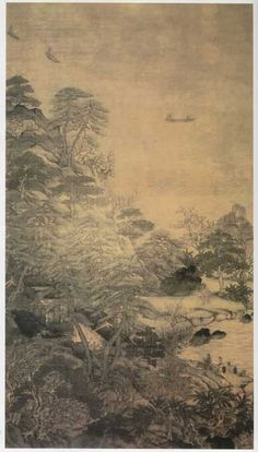 """Under Emperor Xuan Zong's reign in the Tang Dynasty, General Li Sixun (李思训 651-716) and his son, Li Zhaodao (李昭道), were both excellent artists in portraying natural landscapes. They are the founder of the so-called Northern school of professional painters and were given the nickname """"General Li"""" and """"General Li Junior"""" respectively."""