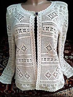 Popular Crochet Little Black Dress Tutorial - Craft & Patterns Gilet Crochet, Crochet Coat, Crochet Cardigan Pattern, Crochet Shirt, Crochet Jacket, Crochet Clothes, Crochet Stitches, Crochet Patterns, Knitted Poppy Free Pattern